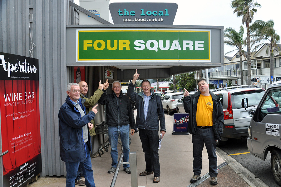 No, ZL7G were not using a Four Square! This was the name of a restaurant on Waiheke island off Auckland.
