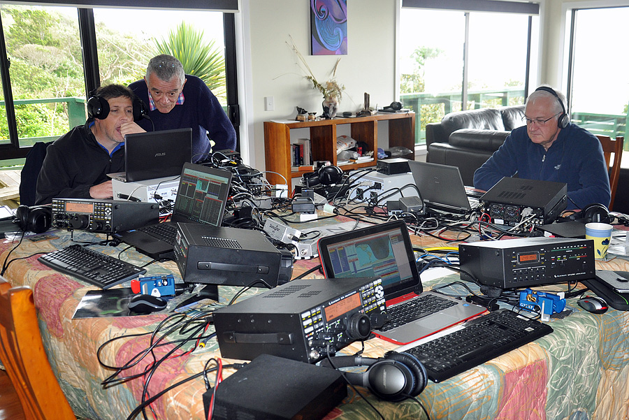 Five Elecraft K3/K3s transceivers were used at ZL7G as well as Justin G4TSH's Elecraft KX3.